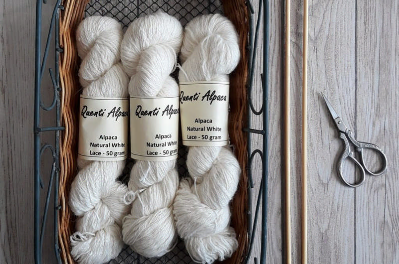 alpaca yarn winter white