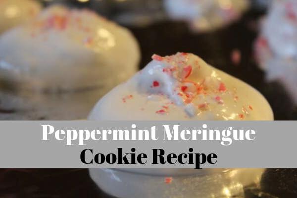 peppermint meringue cookie