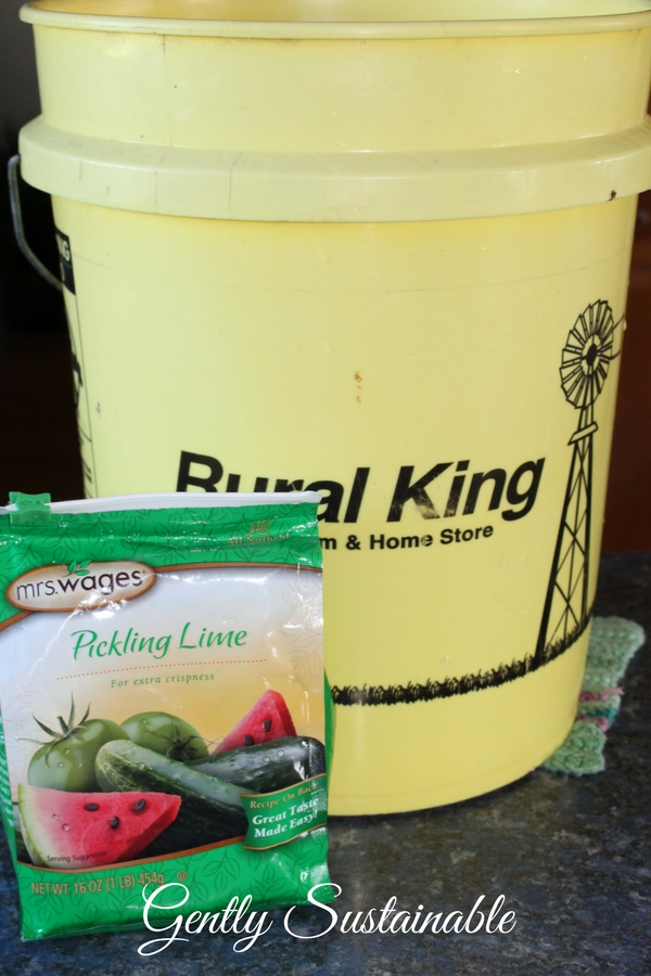 5 gallon bucket and pickling lime
