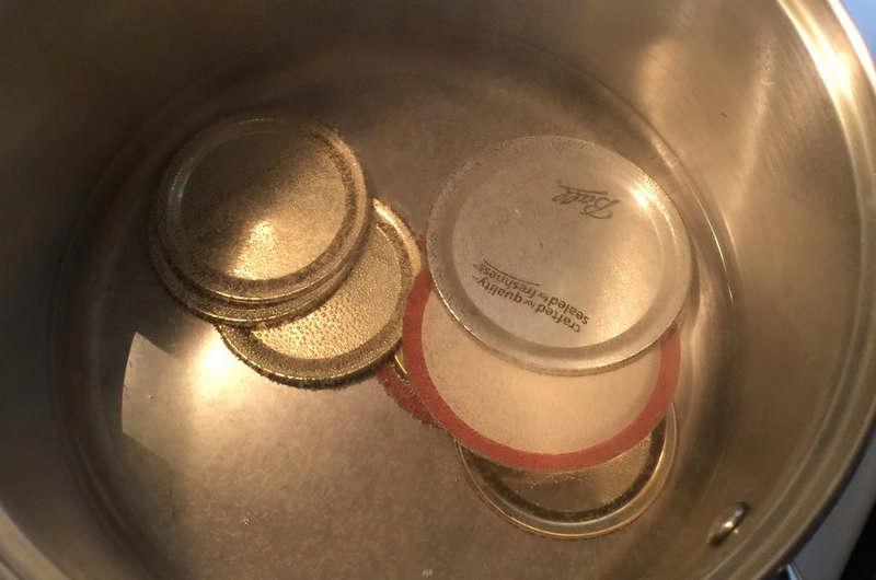 hot canning lids