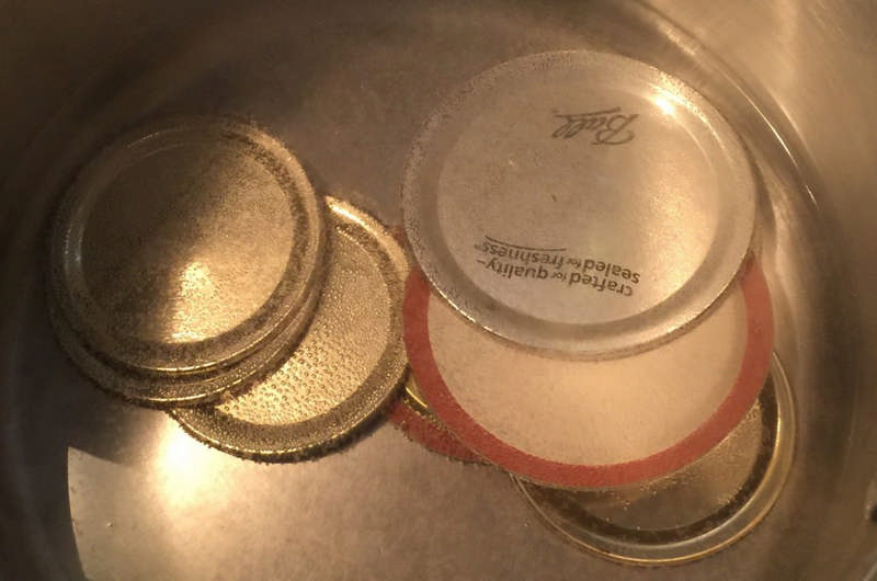 heating canning lids on stove