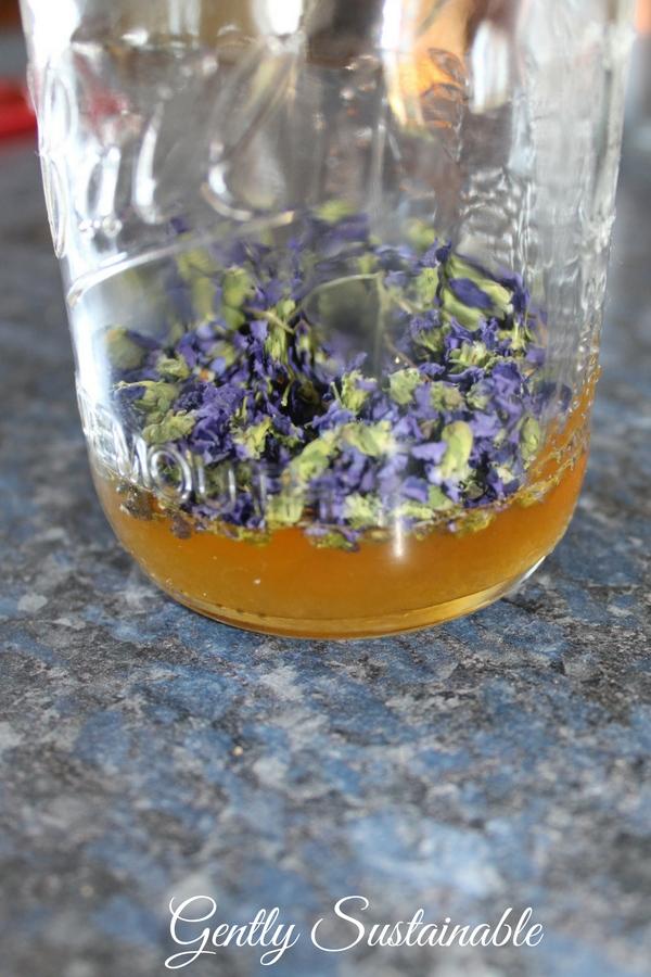 violet infused honey