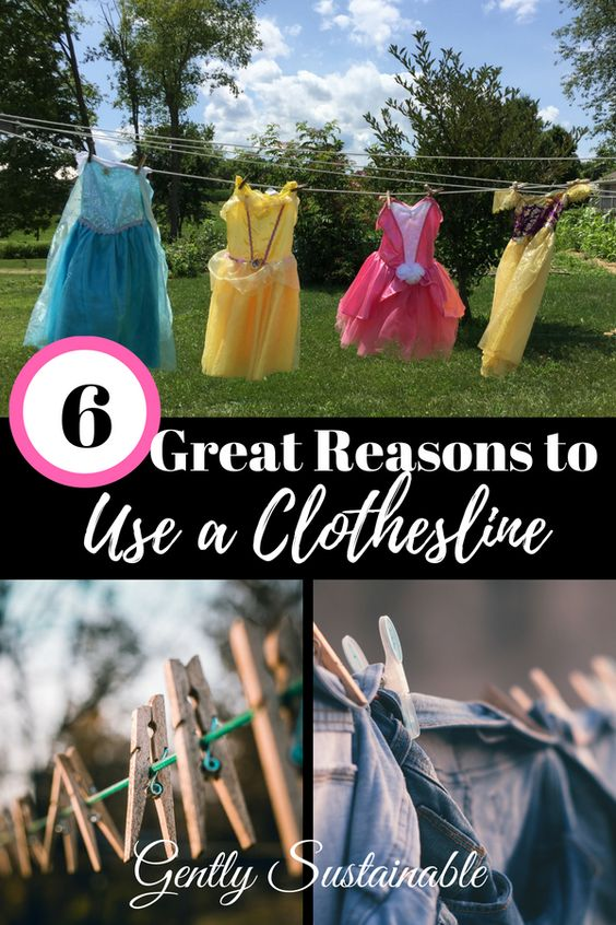 6 Great Reasons to Use a Clothesline
