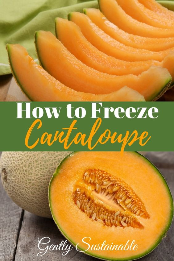 How to Freeze Cantaloupe