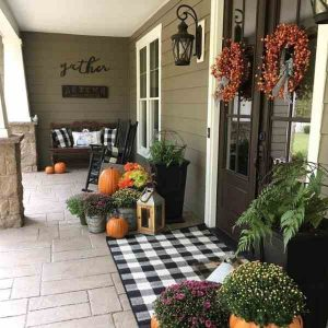 fall porch decorating