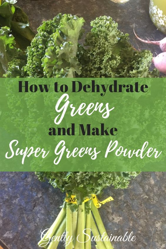 How to Dehydrate Greens for Super Green Powder
