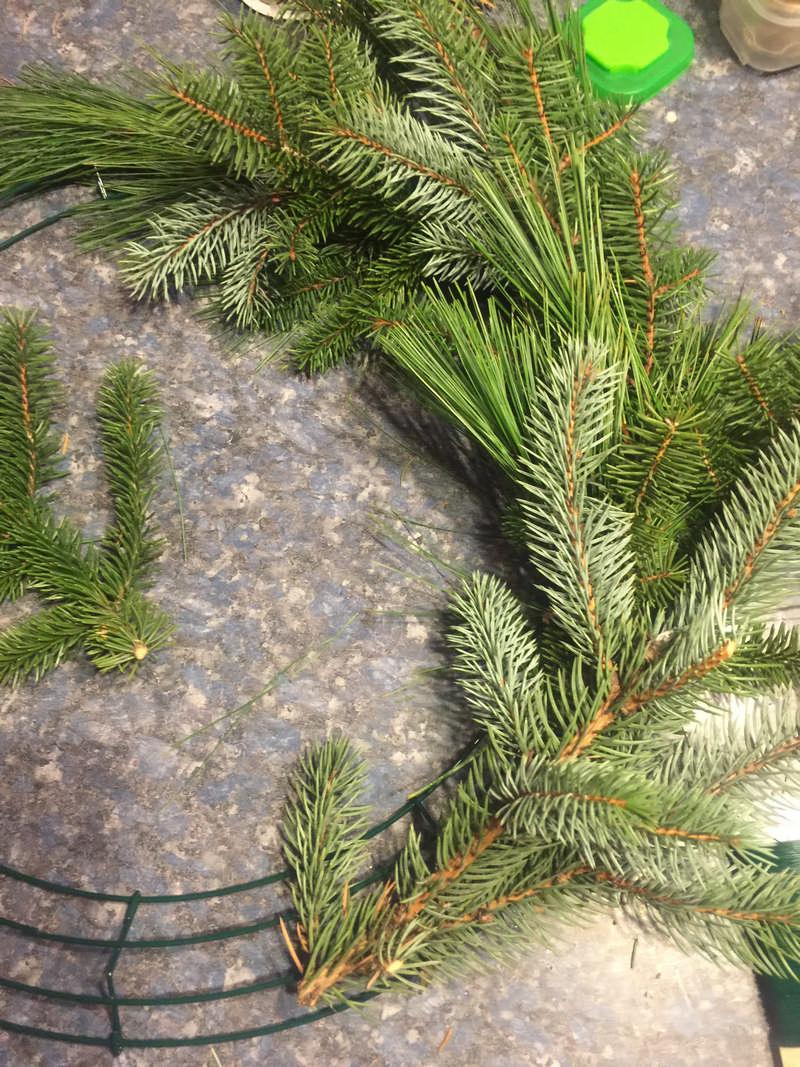 fresh wreath from scratch