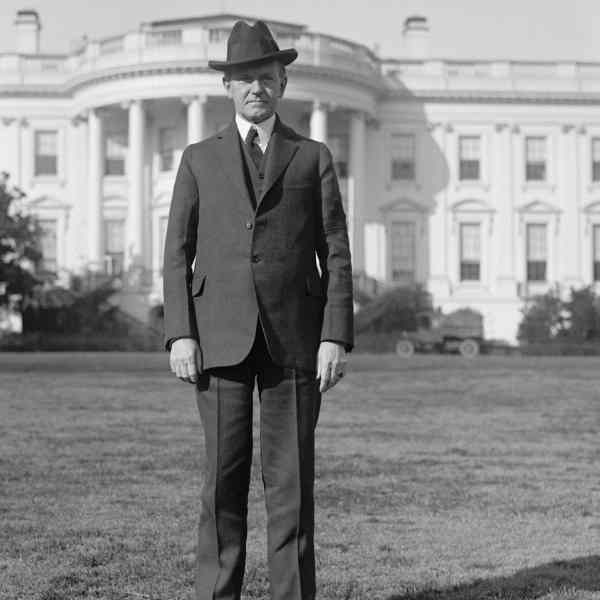 calvin coolidge in front of white house
