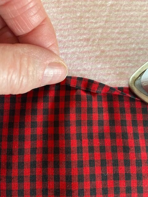 ironing cloth napkin
