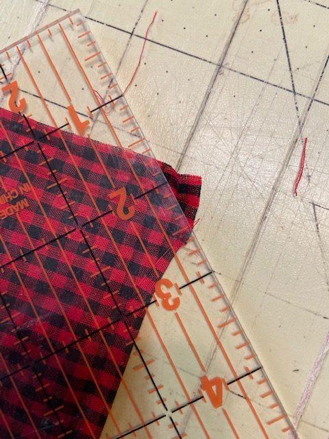 mitered corner cloth napkin