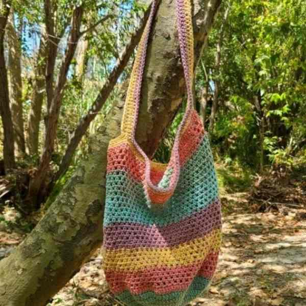 diy grocery bag crochet
