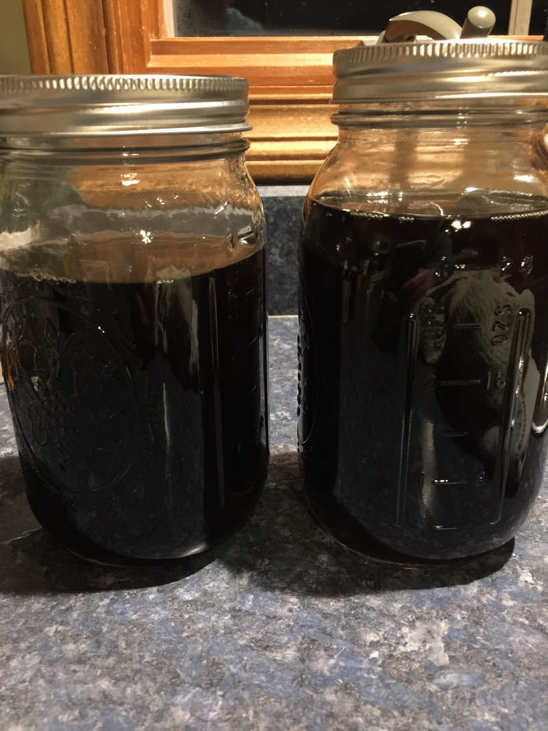 maple syrup in jars