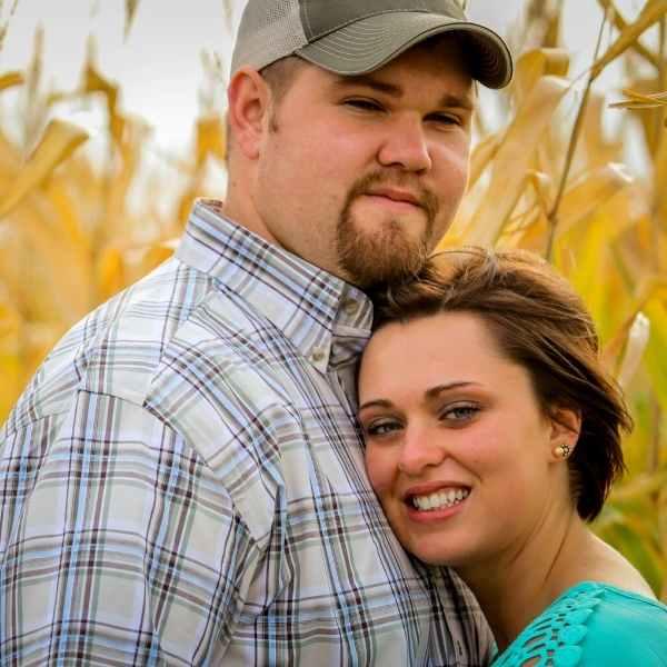 happy homesteading couple