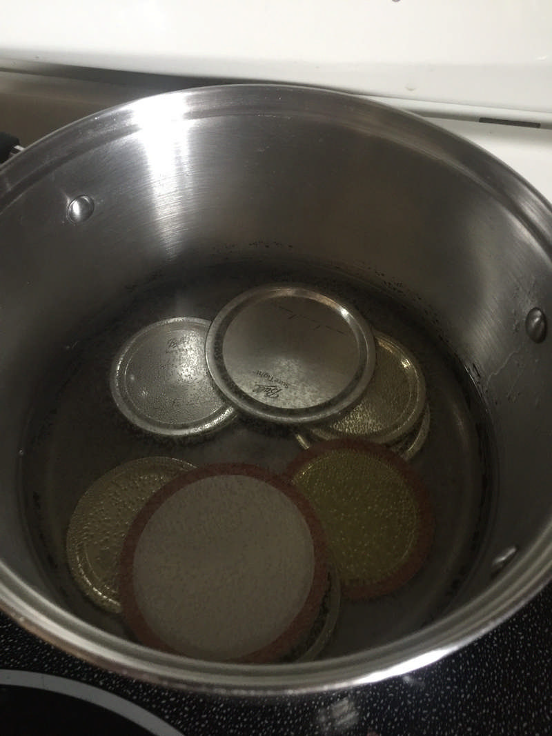 heating canning lids
