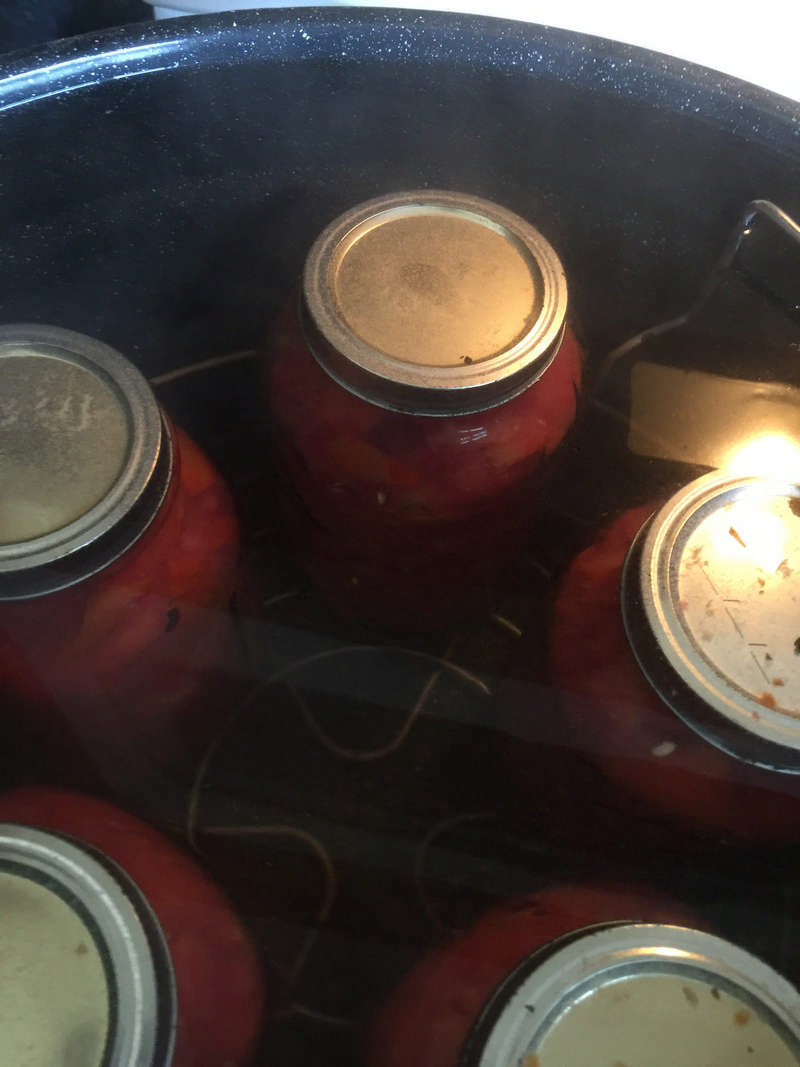 water bath canning tomatoes