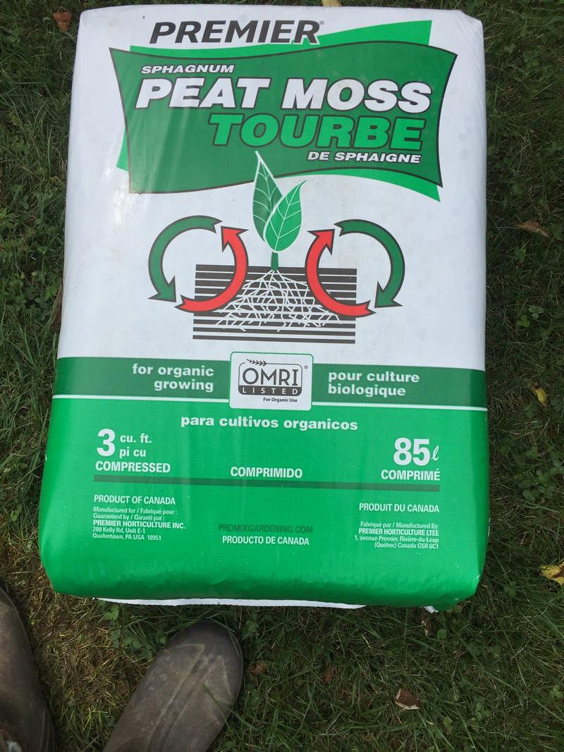 bag of peat moss