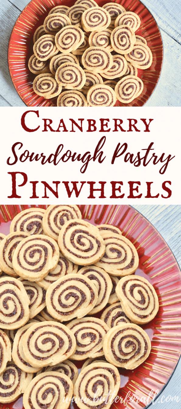 cranberry sourdough pastry pinwheels recipe