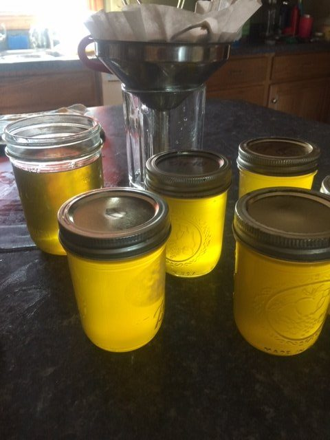 ghee in jars with lids