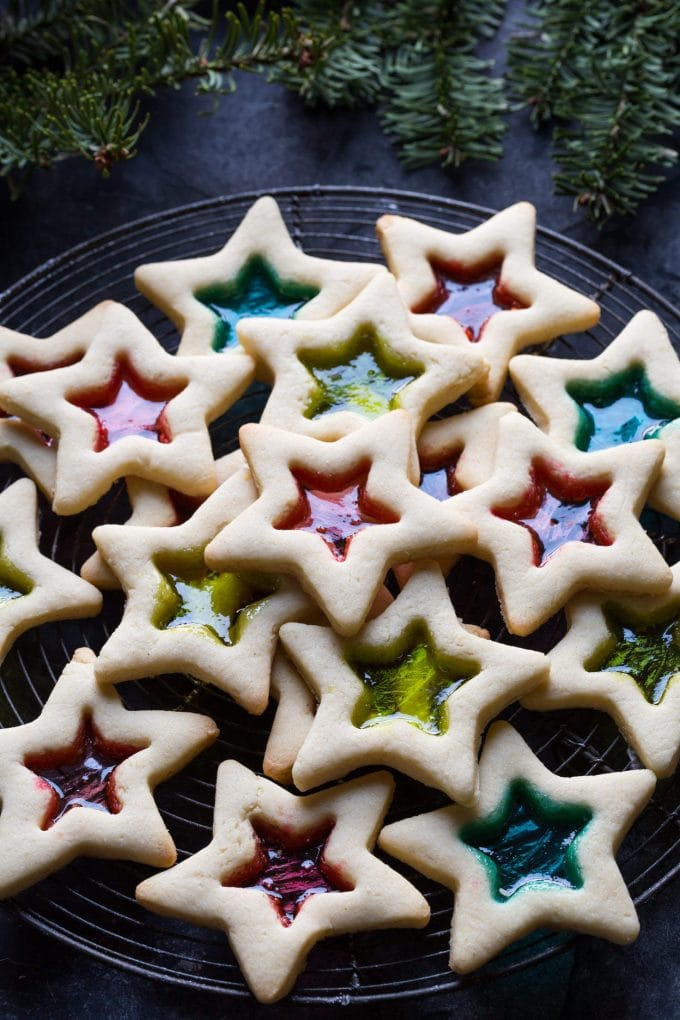 stained glass cookies to share