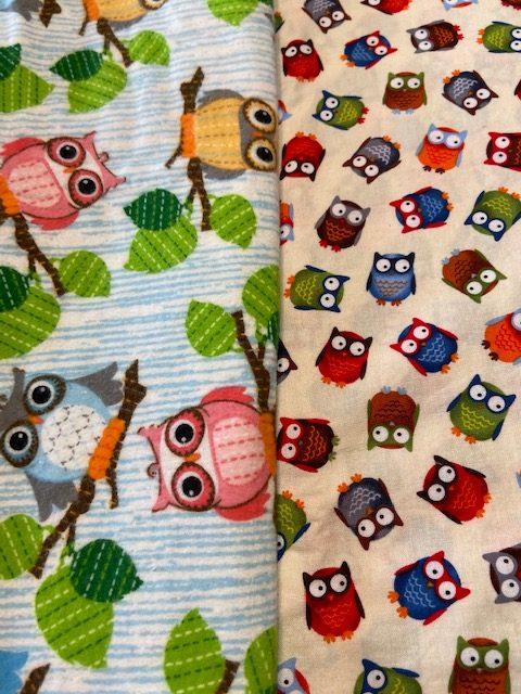 owl baby fabric