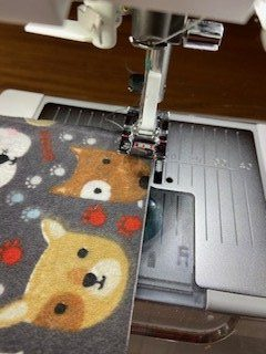 sewing flannel