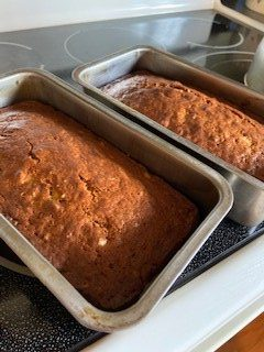 banana bread fresh from the oven