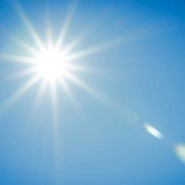 sunshine with blue sky