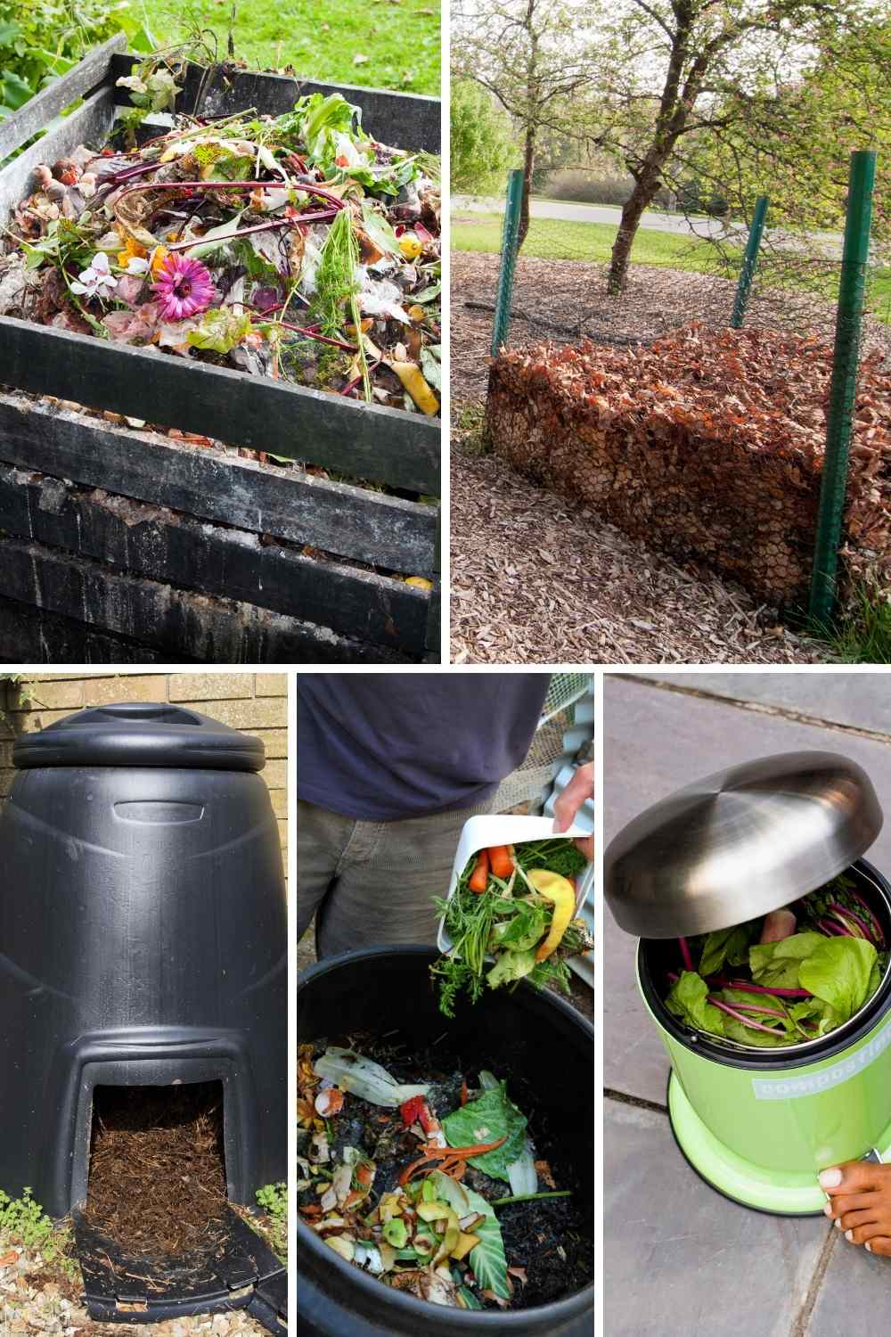 different types of compost bins