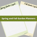 Spring and Fall Garden Planners