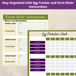 Stay Organized with Egg Tracker and Farm Sitter Instructions