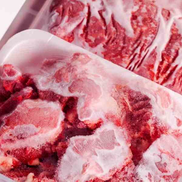 meat in freezer