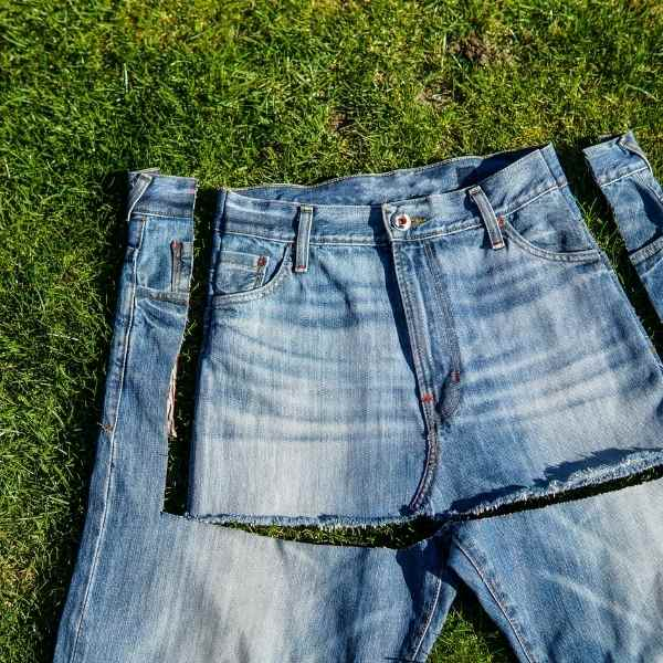 re-purposing old pair of blue jeans