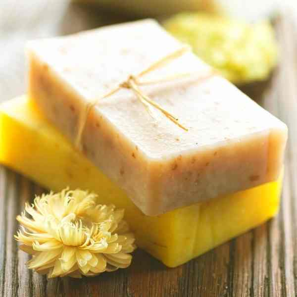 handmade soap with flower