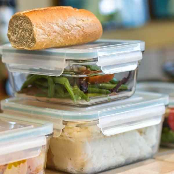 leftovers in containers