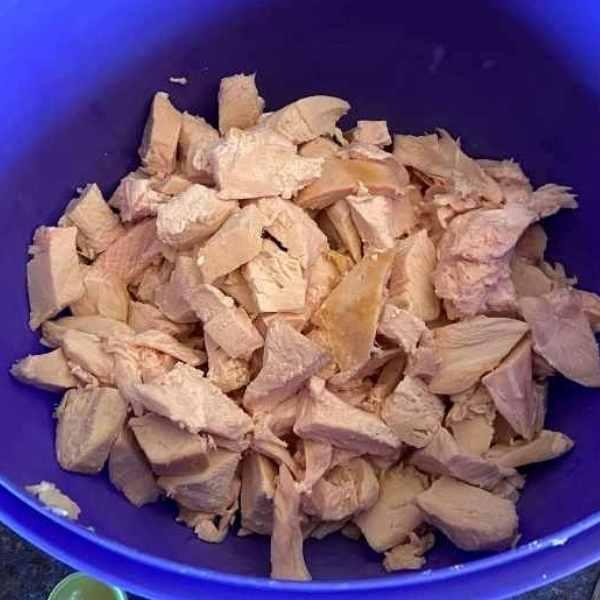 chopped white meat turkey