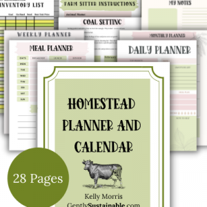 The Gently Sustainable Homestead Planner