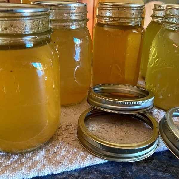 jars of canned turkey broth